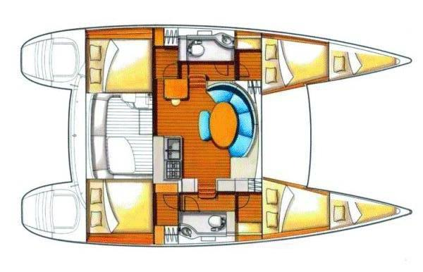 Rent sailing yacht Catamaran 380