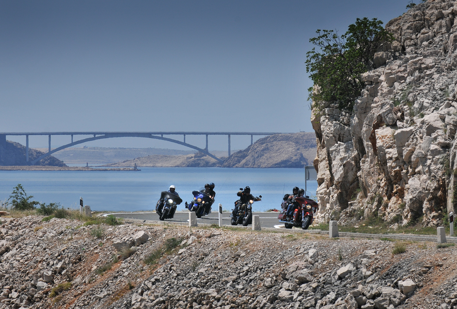 Island of pag-special ride by Harleys