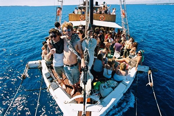 boat parties on Argonaut, Tisno, Croatia, The Garden parties