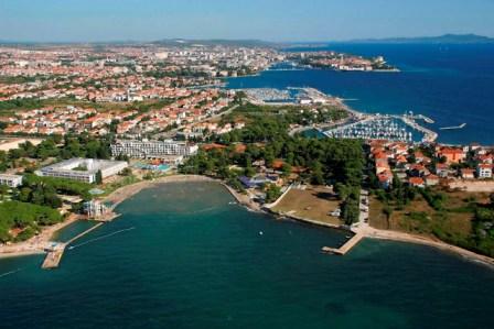 Hrvatska Grad Zadar panorama predjela Borik i Puntamika iz zraka