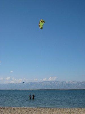 Nin Chorvatsko kurzy kitesurfing windsurfing kajak apartmány