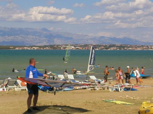 Chorvatsko Nin windsurfing kitesurfing kajak soukromé apartmány penziony